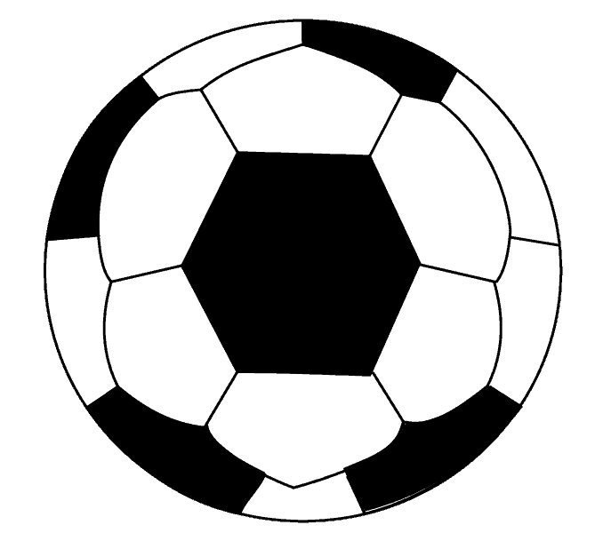 How to draw a soccer ball Step: 14