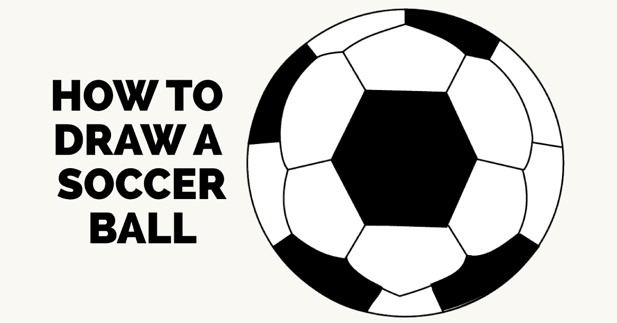 how to draw a soccer ball step by step tutorial easy drawing guides