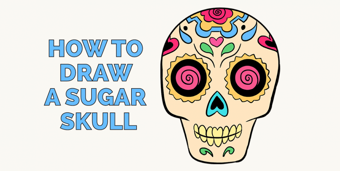How to Draw a Sugar Skull: Featured image