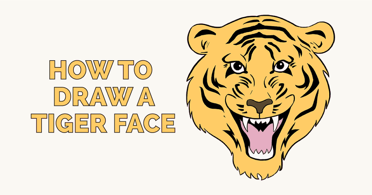 How to draw a tiger face featured image