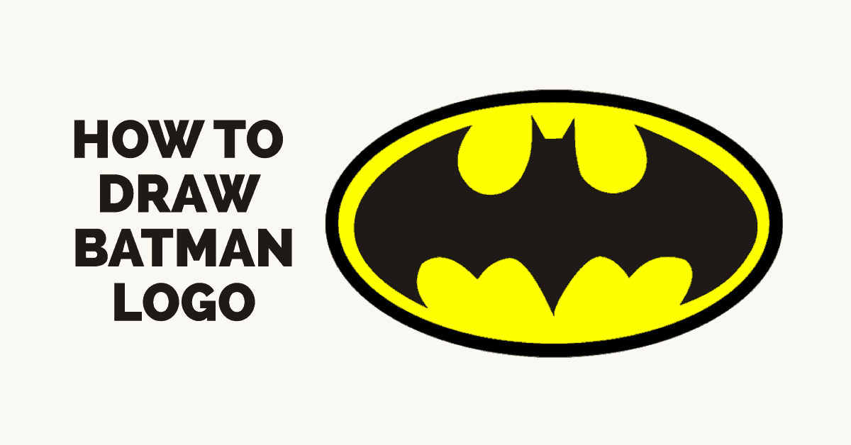 How to draw batman logo featured image