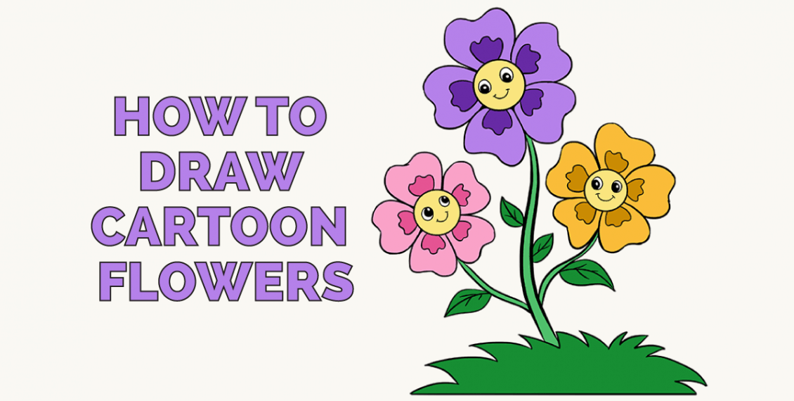 How to Draw Cartoon Flowers: Featured Image