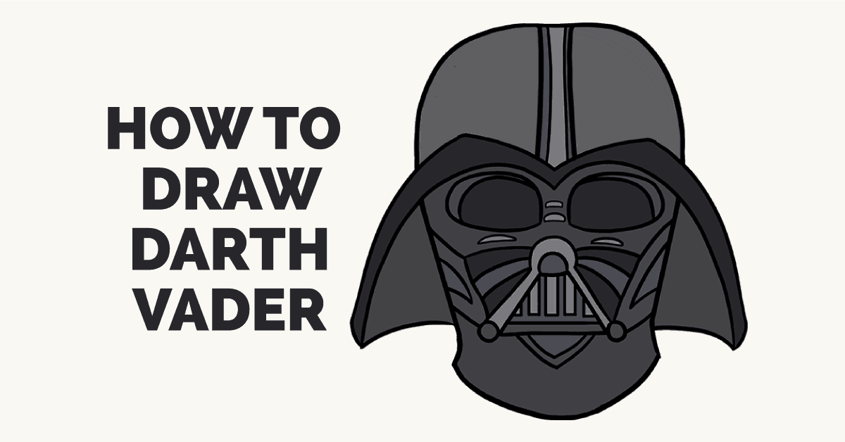 How To Draw Darth Vader In A Few Easy Steps Easy Drawing Guides