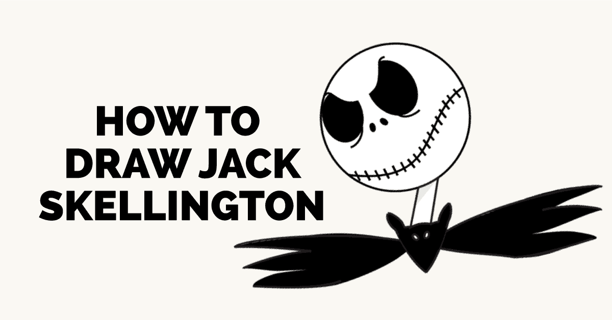 How to Draw Jack Skellington: Featured Image