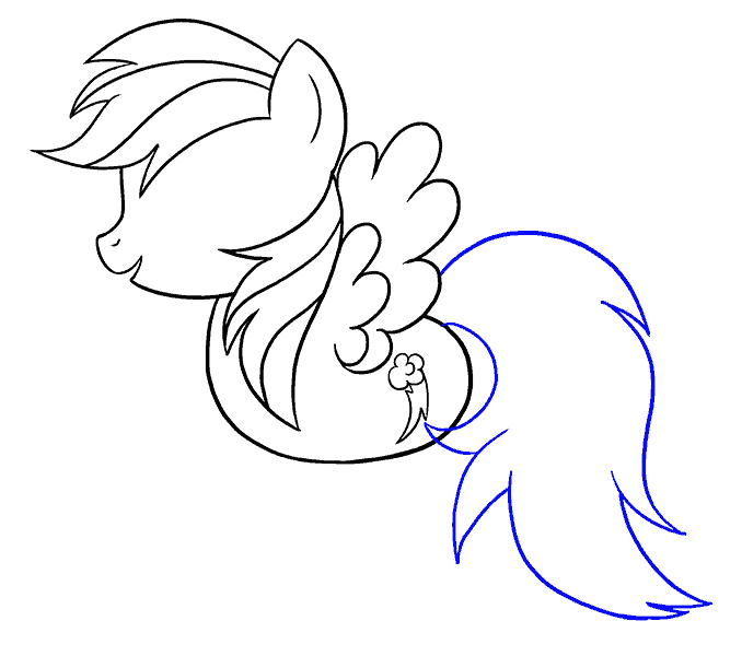 How to draw my little pony rainbow dash Step: 14