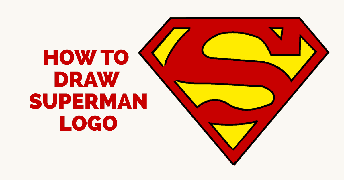 How to draw superman logo featured image