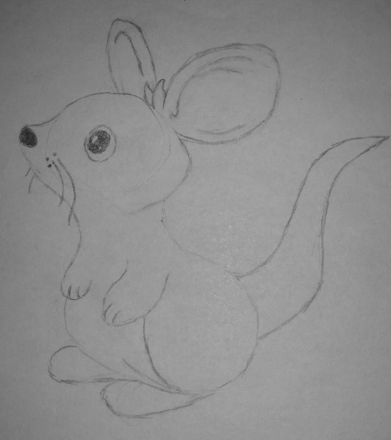 Mouse Drawing by Elli
