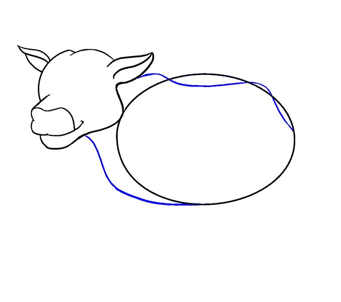 How to Draw Cow: Step 10