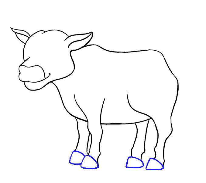 How to Draw Cow: Step 15