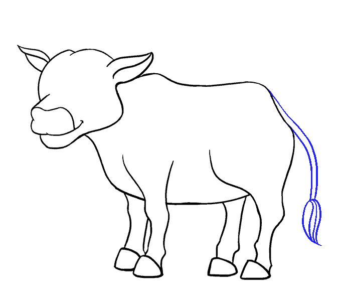How to Draw Cow: Step 16