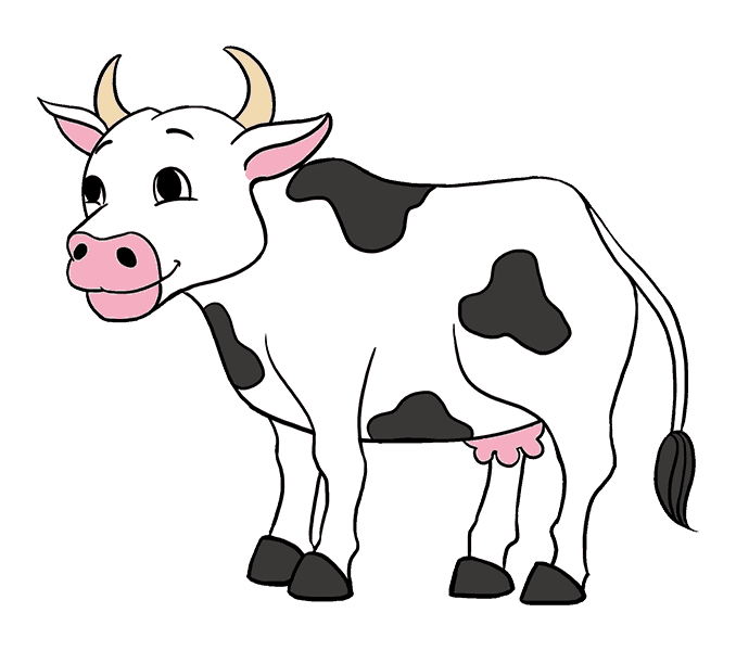 How to Draw Cow: Step 20