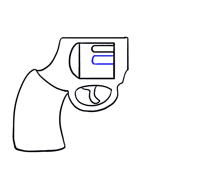 How to Draw Cartoon Revolver: Step 9