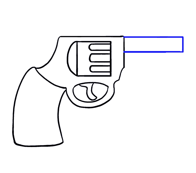 How to Draw Cartoon Revolver: Step 11