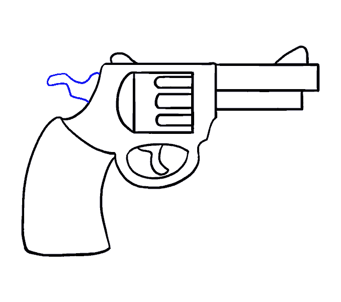 How to Draw Cartoon Revolver: Step 15