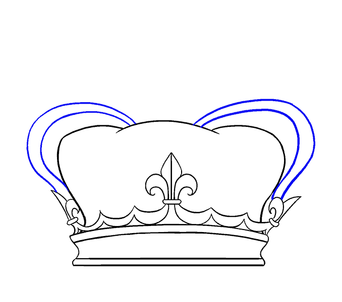 How to Draw Crown: Step 8