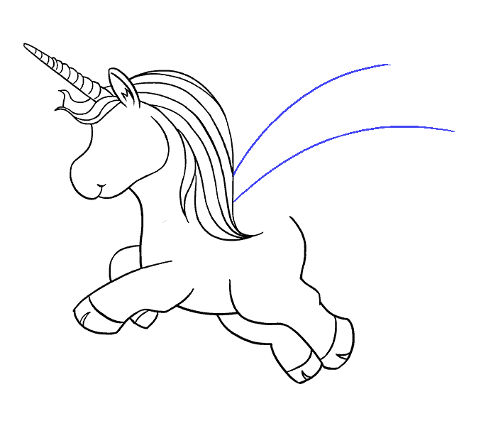 How to Draw Unicorn: Step 14