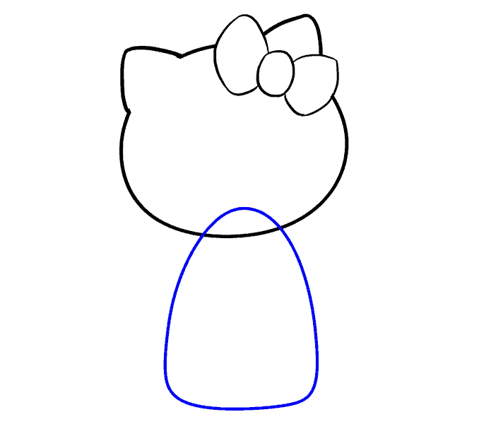 How to Draw Hello Kitty: Step 6