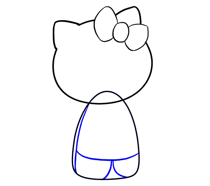 How to Draw Hello Kitty: Step 7