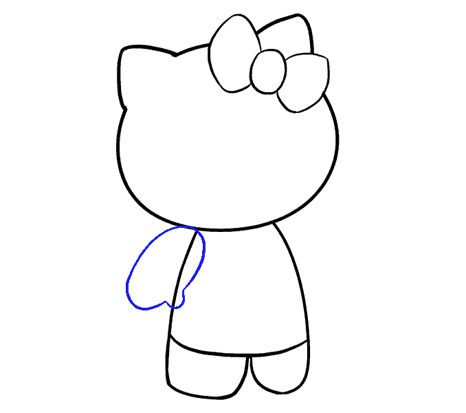 How to Draw Hello Kitty: Step 9