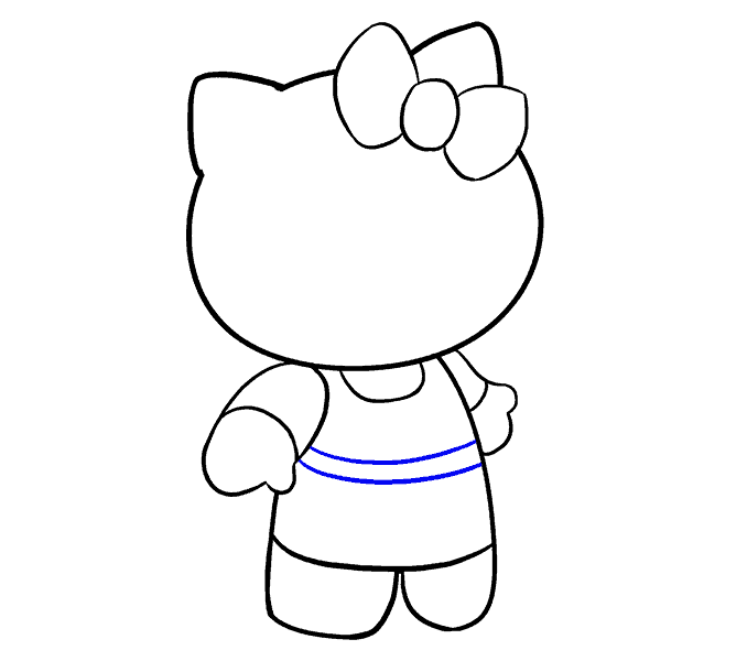 How to Draw Hello Kitty: Step 13