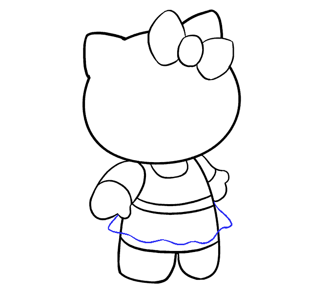 How to Draw Hello Kitty: Step 14