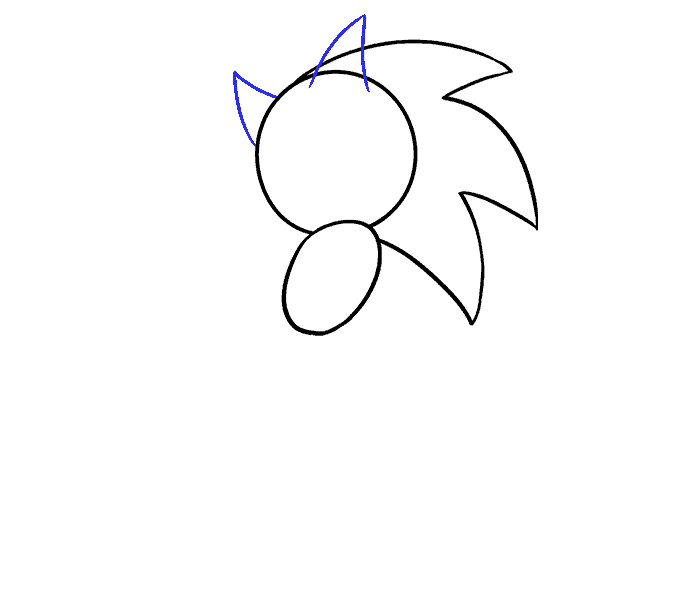 How to Draw Sonic the Hedgehog: Step 5