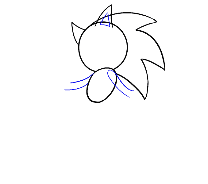 How to Draw Sonic the Hedgehog: Step 6