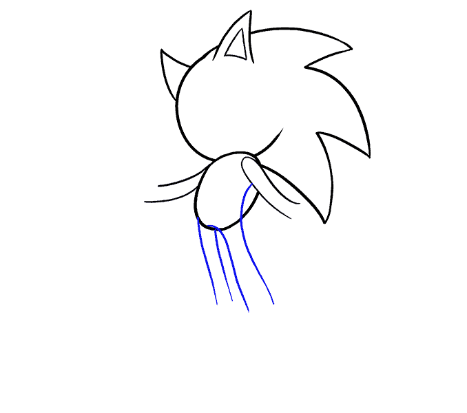 How to Draw Sonic the Hedgehog: Step 8