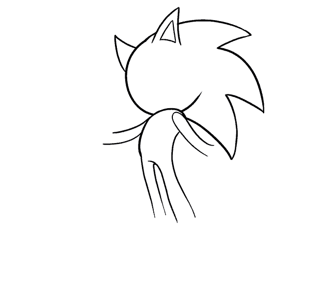How to Draw Sonic the Hedgehog: Step 9