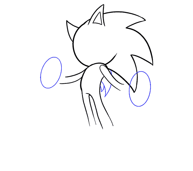 How to Draw Sonic the Hedgehog: Step 10