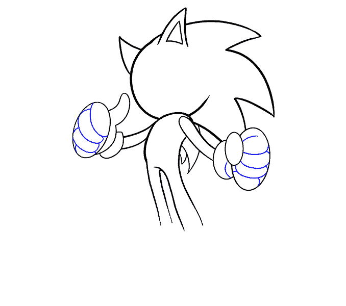 How to Draw Sonic the Hedgehog: Step 13