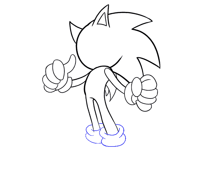 How to Draw Sonic the Hedgehog: Step 15