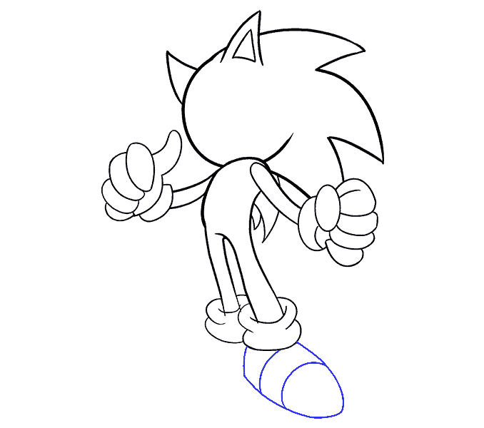 How to Draw Sonic the Hedgehog: Step 16