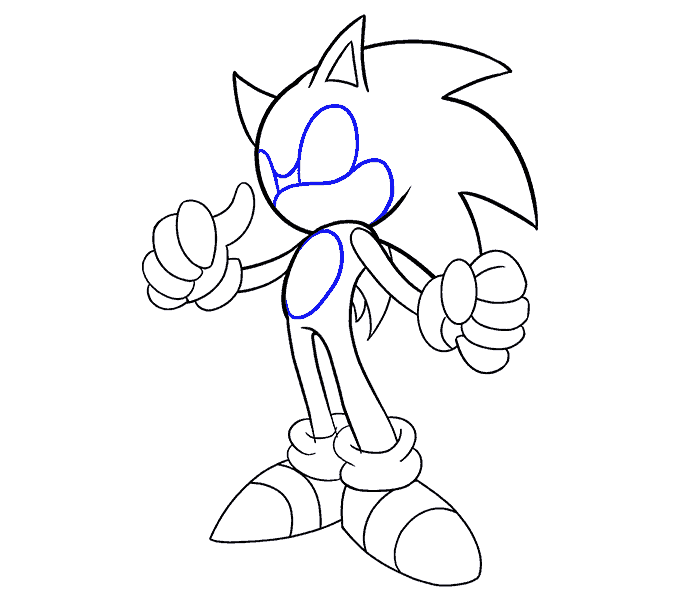 How to Draw Sonic the Hedgehog: Step 18