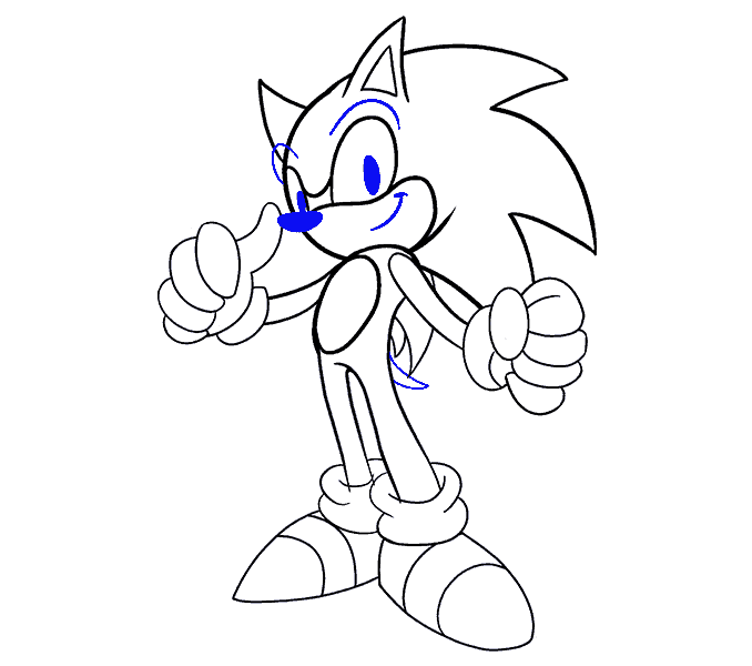 How to Draw Sonic the Hedgehog: Step 19