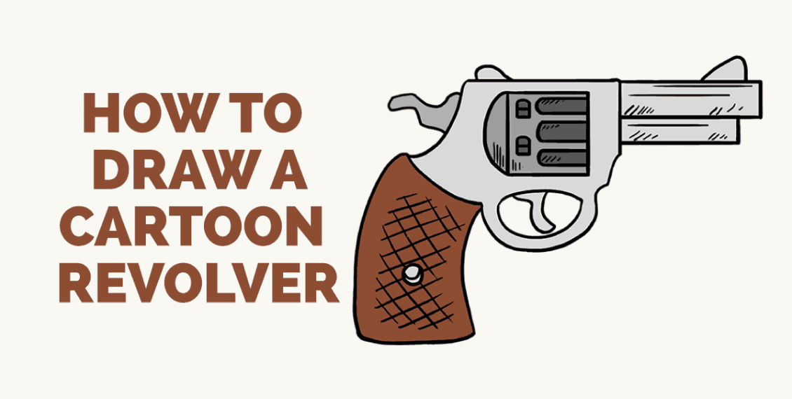 How to Draw a Cartoon Revolver: Featured Image