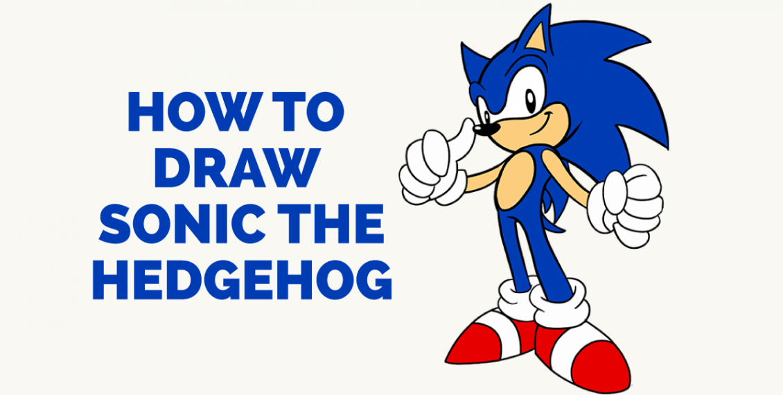 How to Draw Sonic the Hedgehog: Featured Image