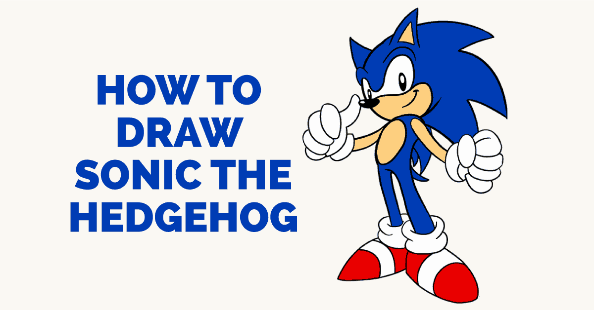 How to draw sonic the hedgehog featured image