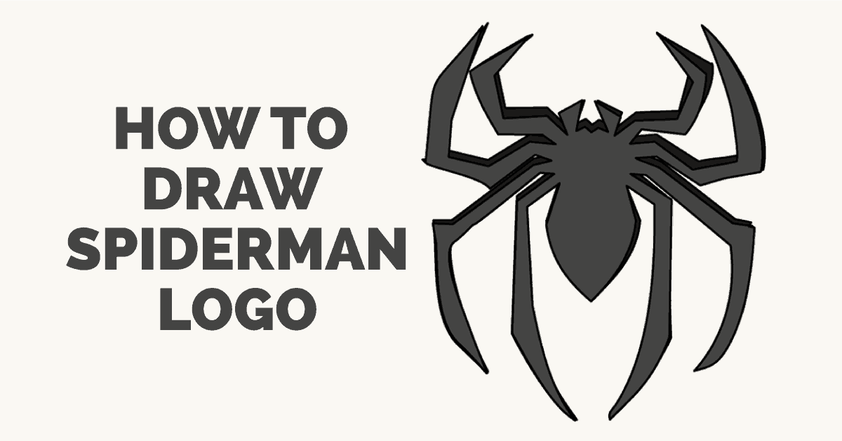 How To Draw How To Draw Spiderman S Logo In A Few Easy Steps Easy