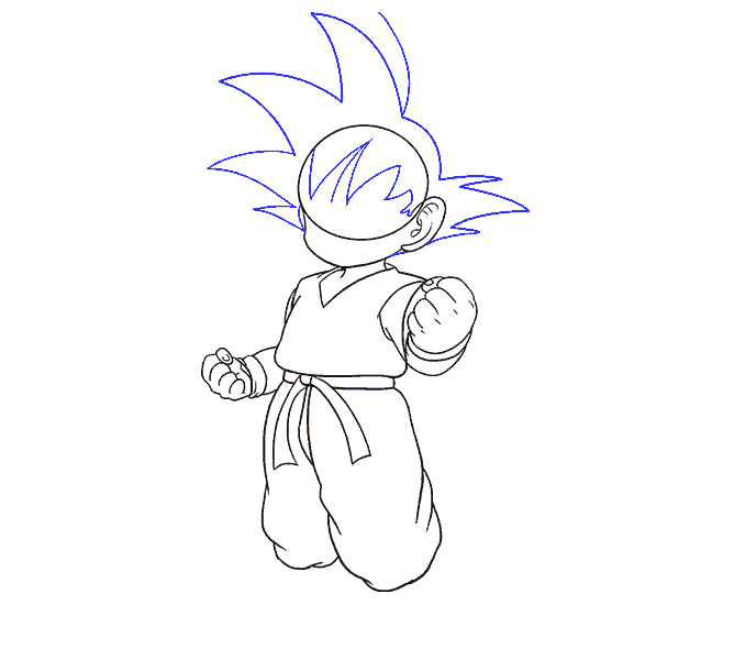 How to Draw Goku: Step 13