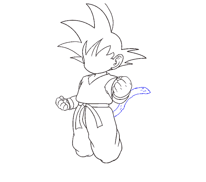 How to Draw Goku: Step 15