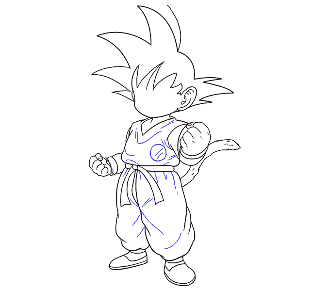 How to Draw Goku: Step 18