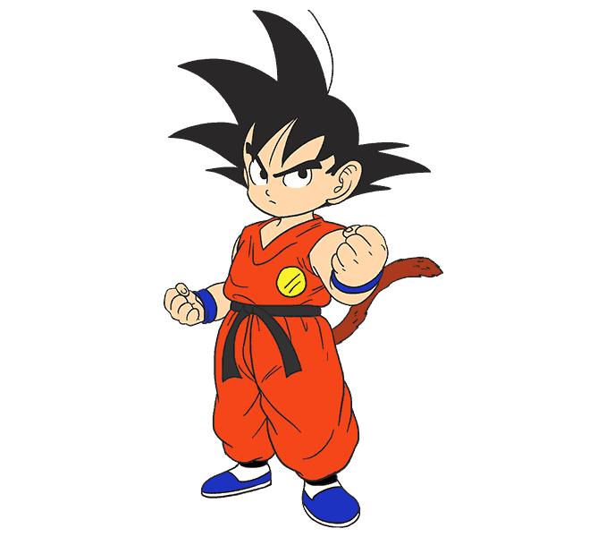 How to Draw Goku: Step 20