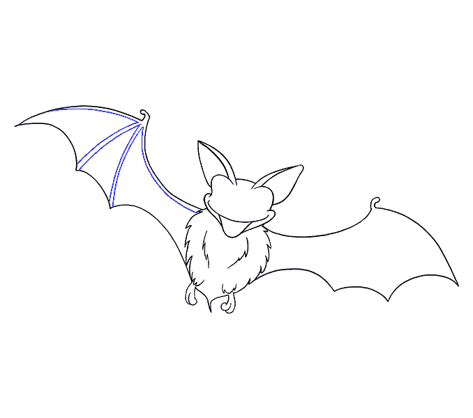 How to Draw Bat: Step 16