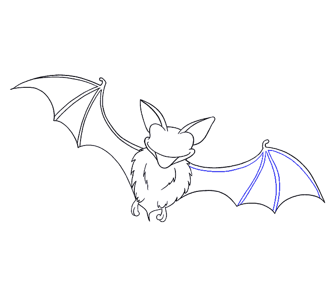 How to Draw Bat: Step 17