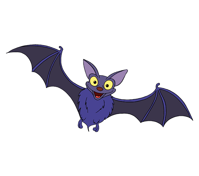 How to Draw Bat: Step 20