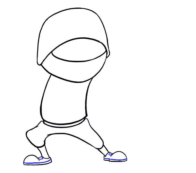How to Draw Cartoon Ninja: Step 10
