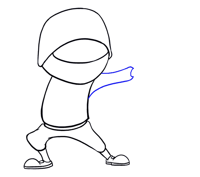 How to Draw Cartoon Ninja: Step 11