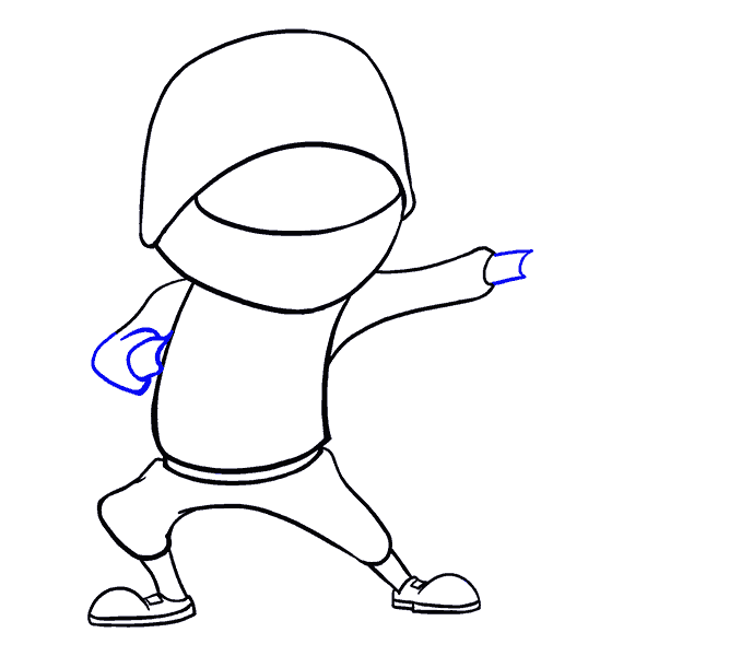 How to Draw Cartoon Ninja: Step 13