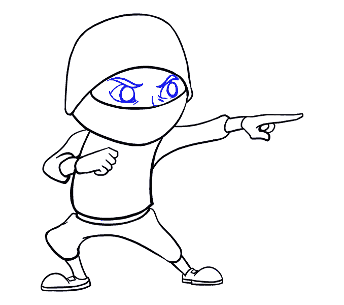 How to Draw Cartoon Ninja: Step 15